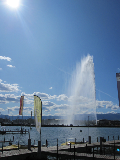 The famous Jet D'Eau of Geneva