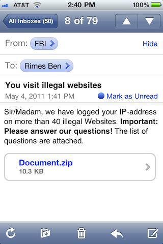 I Visit Illegal Sites