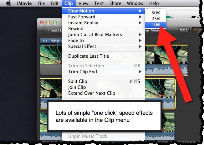 clip menu imovie