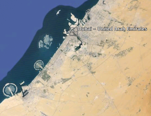dubai google earth imagery