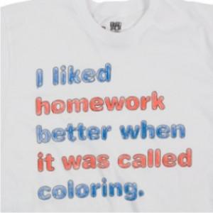 homework coloring
